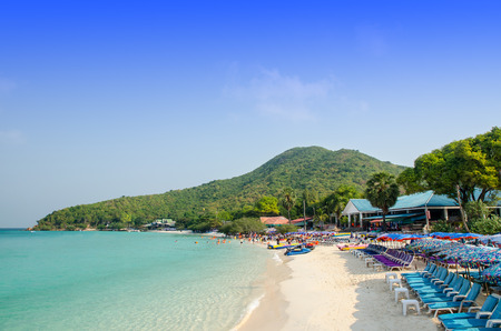 Tien beach, Larn island, Pattaya, Chonburi, Thailand Stock Photo