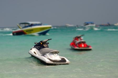 Jet ski in Tawaen beach, Koh larn Island, Pattaya, Thailand
