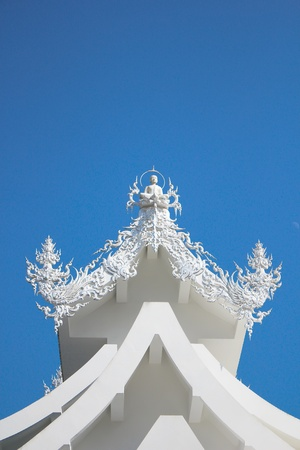 wat rong khun  - the white temple in Chiangrai , Thailand photo