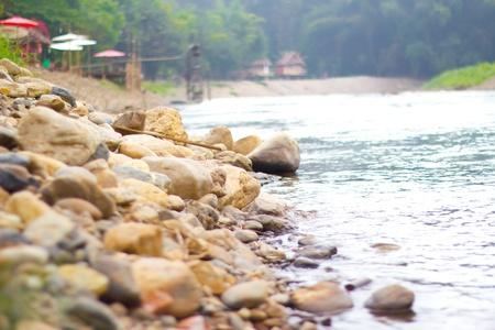 River amongst stone in pai Chiang Mai photo