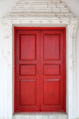 Old red door  photo