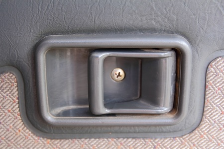 old Car door handle closeup view photo