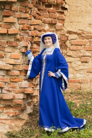Beautiful woman in medieval dress photo