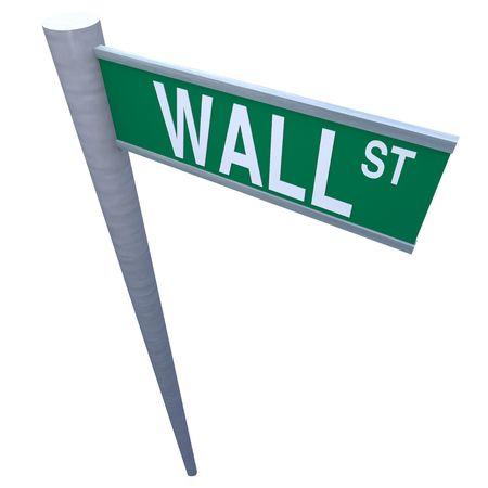 volatility: Wall Street Suscribirse aisladas en blanco