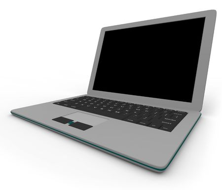 compute: Place your own message on the blank screen of this gray laptop computer