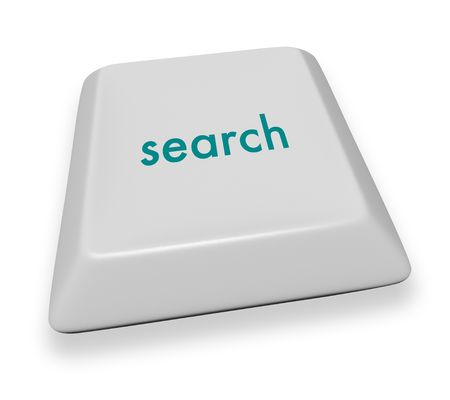 A gray computer keyboard button displaying the word search Stock Photo - 3901979
