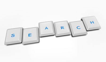 Computer keyboard keys spell out the word Search Stock Photo - 4182565