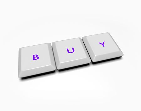 Computer keyboard keys spell out the word Buy Stock Photo - 4182572