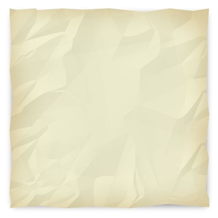 wrinkled paper: A sepia-toned, wrinkled piece of paper background for slides, brochures and presentations. Stock Photo