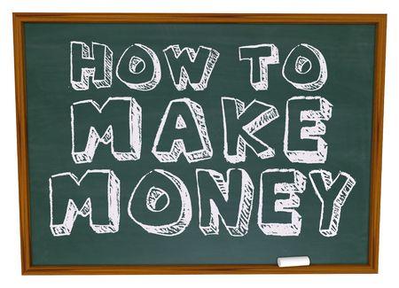The words How to Make Money on a chalkboard Reklamní fotografie