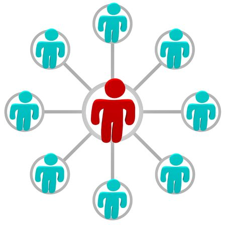 Network of people connections all linked together Stock Photo - 4771907