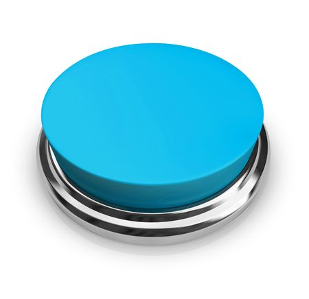 information button: A blue button with an empty area for you to place your own text Stock Photo