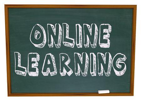 단어 칠판에 온라인 학습