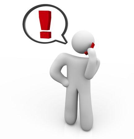 Une personne appelle à une plainte en utilisant son téléphone Banque d'images - 4837627