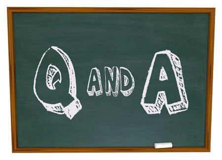 q: The letters Q and A written on a chalkboard