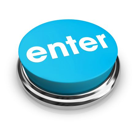 A blue button with the word Enter on it photo