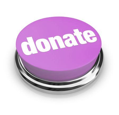 Un pulsante viola con la parola Donazione su di esso Archivio Fotografico - 4970759