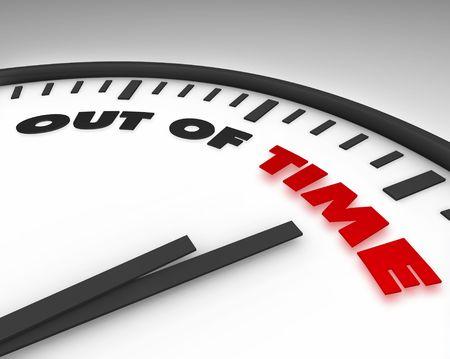 chronologie: White Out horloge avec les mots du temps sur son visage