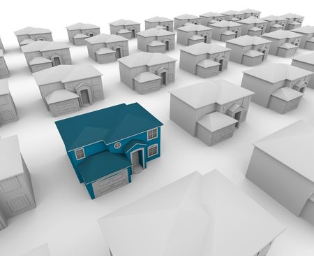 Searching for your dream home, one stands out from the rest Stock Photo - 5041462