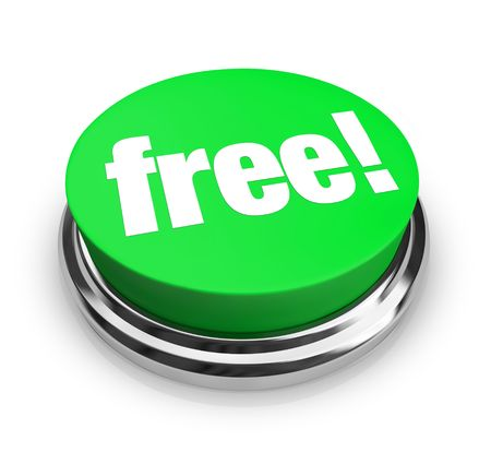 liquidate: A green button with the word Free on it