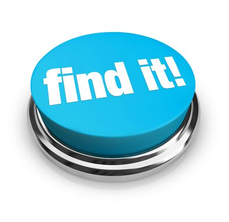 A blue button with the words Find It on it Stock Photo - 5288138