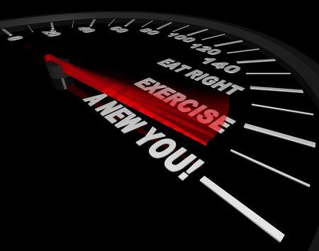 速度計は新しいあなたに行使するには、右を食べることからの進行状況を追跡します。