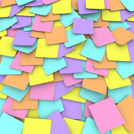 A collage of pastel colored notes created to remind you photo