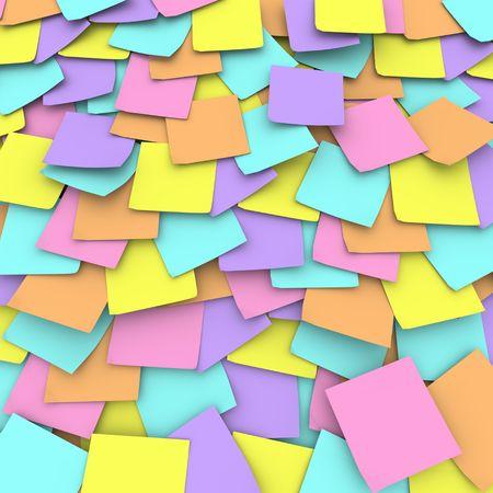 przypominać: Kolaż pastelowych kolorowych notatek stworzony, aby przypomnieć