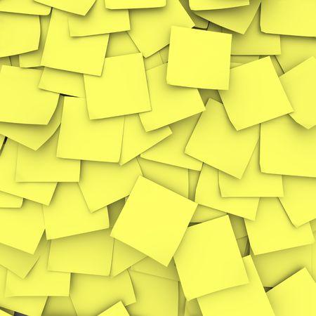 notas adhesivas: Muchas notas adhesivas amarillas y constituyen una base