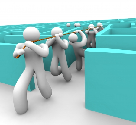 リーダーの混乱の迷宮から彼のチームを引っ張る