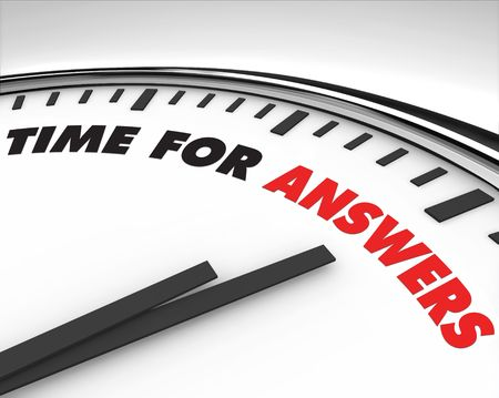 query: Witte klok met woorden tijd voor antwoorden op haar gezicht