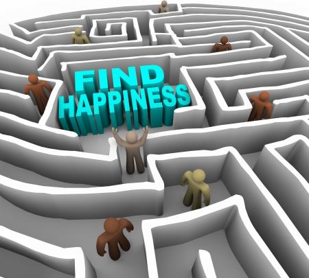 buena salud: Muchas personas tratan de encontrar la felicidad a trav�s de un laberinto de profundo