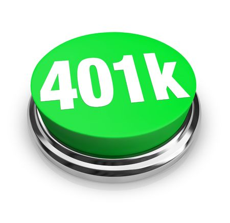 future earnings: A green button with the word 401k on it