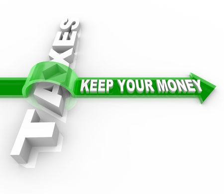 The word Taxes and Keep Your Money jumping over it on an arrow photo