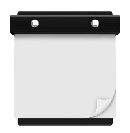 Write your own text on this blank page on a hanging wall calendar Stock Photo - 7352608