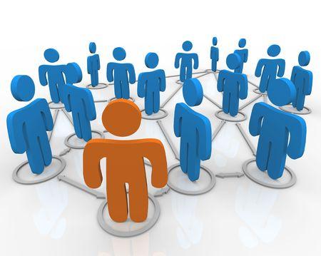 interaccion social: Una red de personas vinculadas con las conexiones