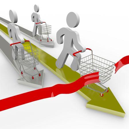 concurrencer: Plusieurs acheteurs sont en concurrence pour acheter les meilleurs accords