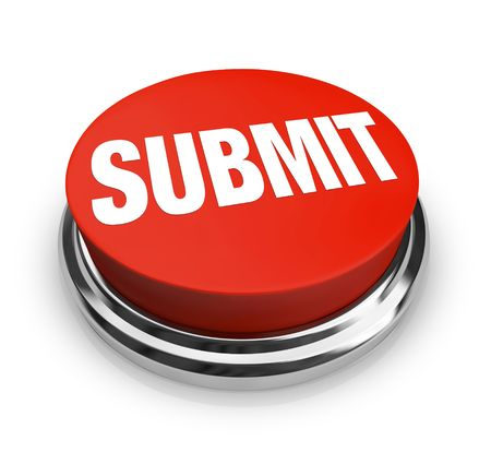 A red button with the word Submit on it Stock Photo - 7826141