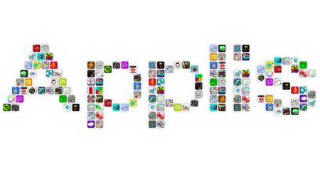 Applis - the French translation of Apps - made of application icons similar to those on a smart phone or other modern device Stock Photo - 8088173