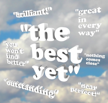 Several quotes of praise represent a positive referral of a product or person Stock Photo - 9107984