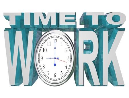 격려 관리자 또는 지도자를 보여주는 편지 O 대신에 시계 얼굴로 작업하는 단어 시간 작업을 진행하게 동기를 부여하기 위해 자신의 팀에 줄 것 스톡 콘텐츠