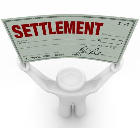 akkoord: Een man houdt een grote nederzetting te controleren of hij heeft gewonnen in een rechtszaak in civiele rechtszaken na de andere partij overeengekomen om de zaak