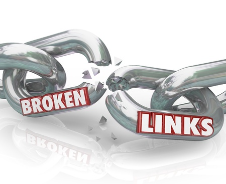 linkage: Several metal chain links broken and damaged not functioning as connections and needing repair