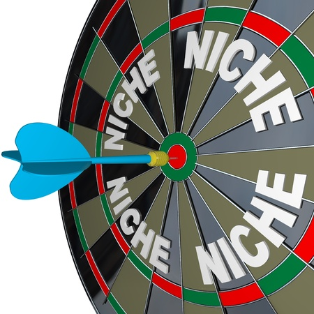 A blue dart hits a bulls-eye to find a unique Niche market photo