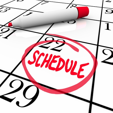 circled: La Lista de palabras con un c�rculo en un calendario para animar a vivir una vida organizada y el seguimiento de sus reuniones y citas en una agenda o la fecha