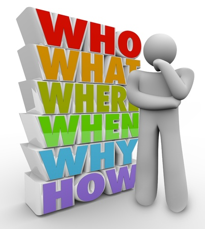 oorzaken: Een denkend mens bevindt zich naast veel vragen wie, wat, waar, wanneer, waarom en hoe de mysteries en onzekere antwoorden dwars hem na te denken