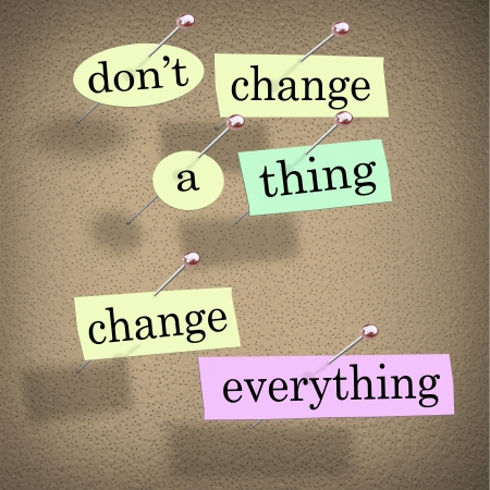 noteboard: An advice or quote on paper notes pinned to a cork noteboard - Don