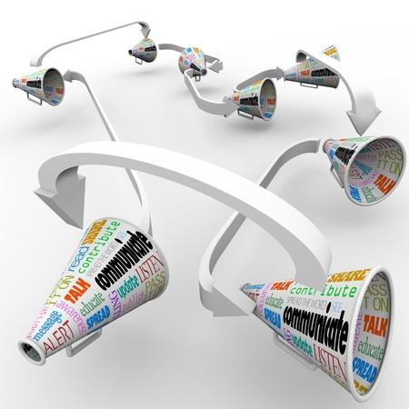 relaciones publicas: Una red de megáfonos conectados o megáfonos
