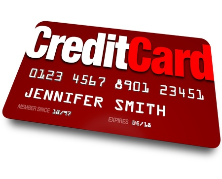 spending: A red credit card