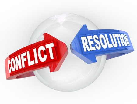 resolutions: A sphere with blue and red arrows from opposite ends and the words